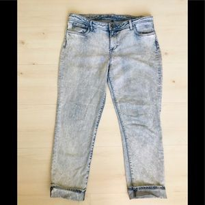 KUT From The Kloth Acid wash crop jeans size 14